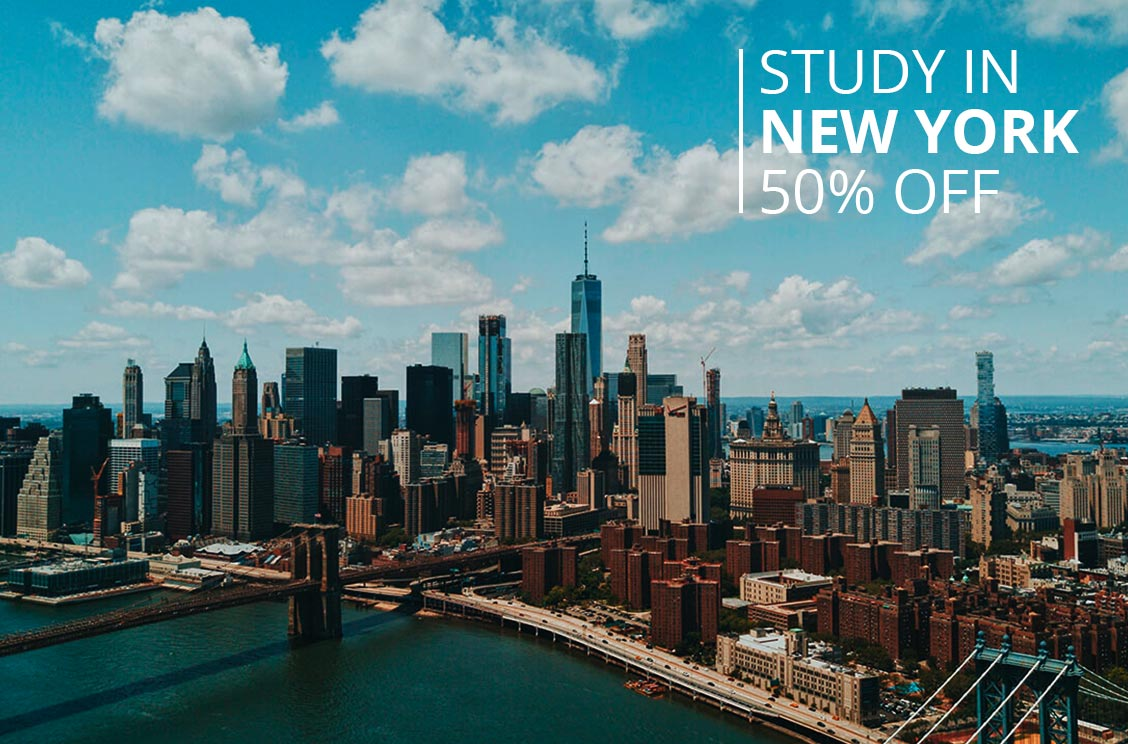 Study in New York 50% Off