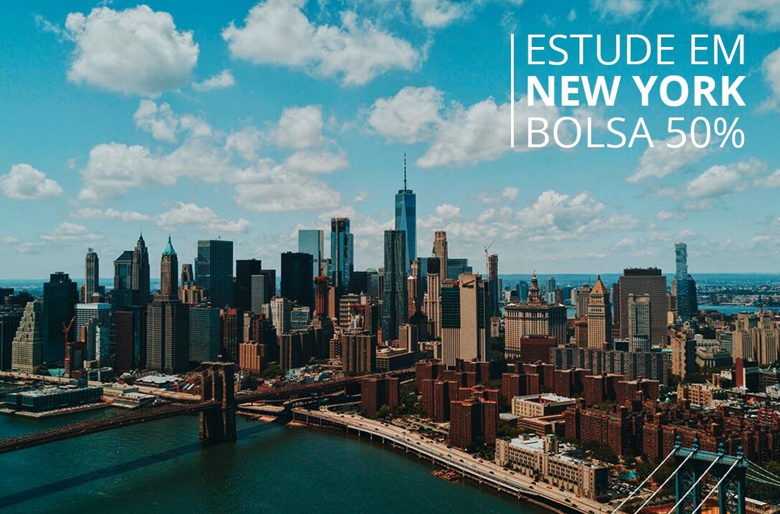 Estude em New York com Bolsa de até 50%